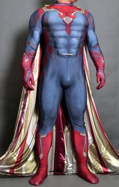 The Vision AOU Printed Spandex Lycra Costume No Hood with Cape