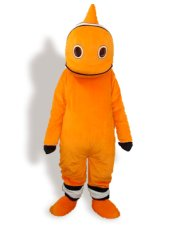 White ,Black And Orange Short-furry Sea Animal Mascot Costume