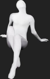 White Full Body Suit | Solid Color Full-body Spandex Lycra Zentai Suits