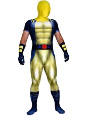 Wolverine Costume | Printed Spandex Lycra Bodysuit with 3D Muscle Shading