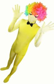 Yellow Gradient Spandex Lycra Zentai Suit with Spider Eyes